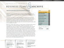 Tablet Preview of businessplanarchive.org